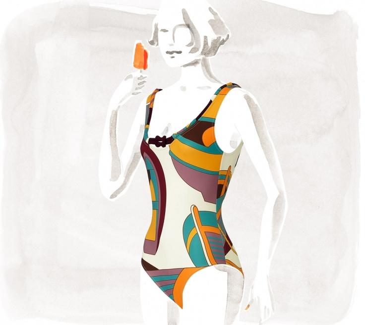 Swimwear Hermès Ancre One-piece - Swimsuits - Women   Hermès, Official Website $750