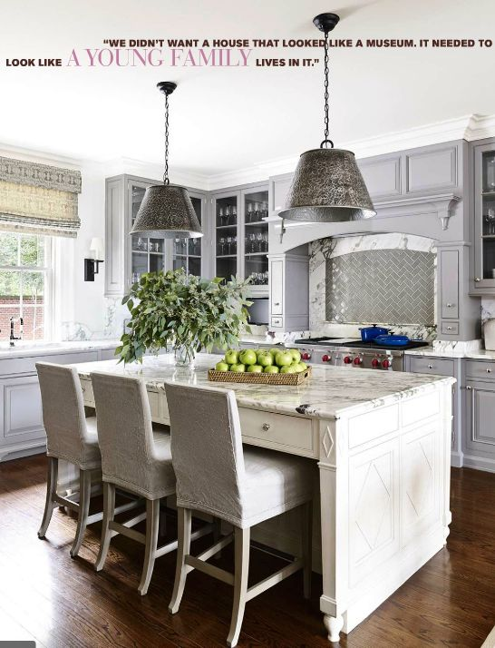 Kitchen at Georgian Revival Home in Virginia interior by SUZANNE KASLER ~ DESIGN IN CANTERBURY