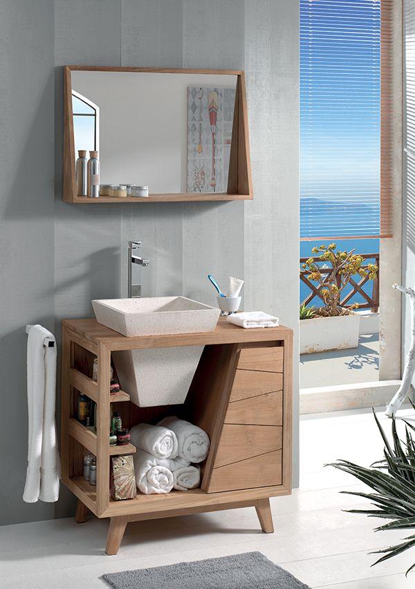 Les 25 meilleures images du tableau beaut du teck sur for Colonne salle de bain cocktail scandinave