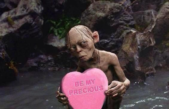 funny valentines lotr lord of the rings the hobbit gollum