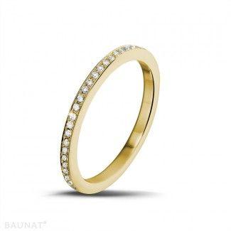 Geelgouden Diamanten Ringen - 0.22 caraat diamanten alliance in geel goud