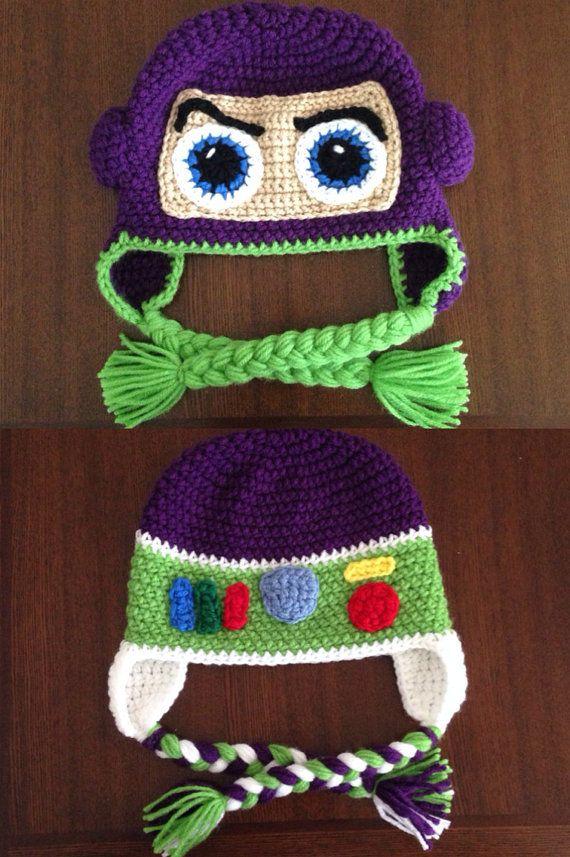 Buzz lightyear inspired crochet hat by MelissasCrochetart on Etsy