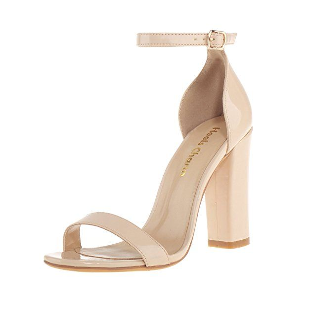 WOMENS LADIES ANKLE STRAP HIGH BLOCK HEEL SANDALS PEEP TOE OFFICE CASUAL SHOES