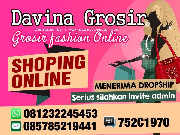 Banner Online Shop/ Toko Online Davina Grosir | Spanduk ...