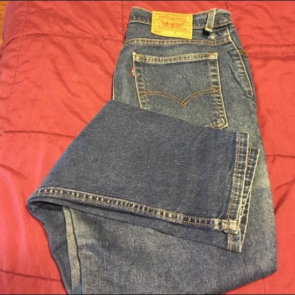 Levi's 512 Levi's 512 worn/faded but in good condition.  Inseam 33/34 size 12L. Great addition! :) Levi's Jeans