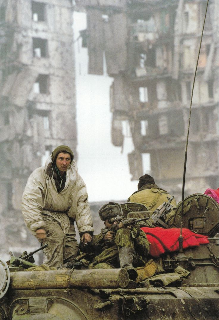 Russian sniper during the Battle of Grozny, first Chechen War, 1994.