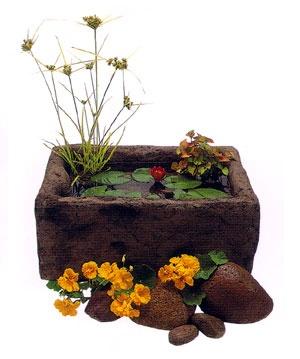 Create your own stone look water garden
