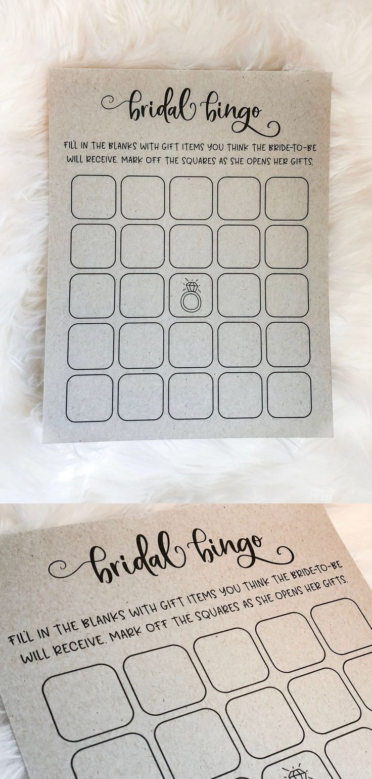 free printable bridal shower games how well do you know the bride%0A Bridal bingo  Bridal shower game  Grey bridal shower