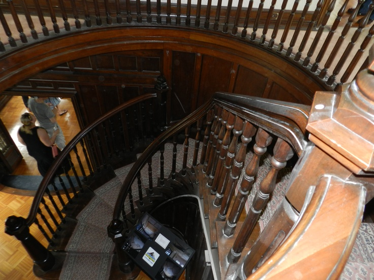 The beautiful winding staircase