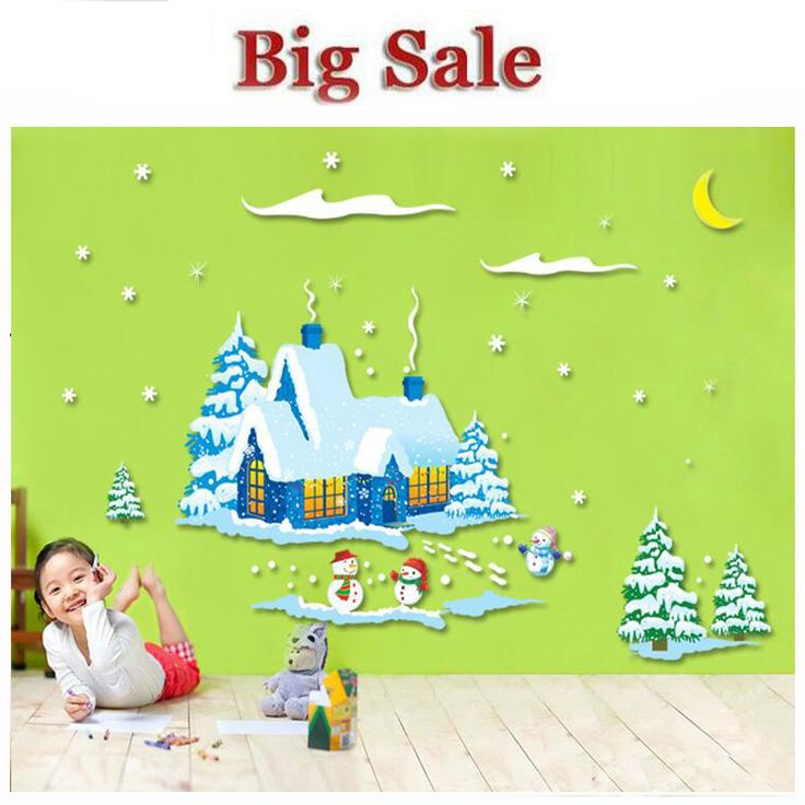 >> Click to Buy << New Shop Window Snowman Christmas Tree Christmas Wall Sticker Christmas Decorations For Home Christmas Window Sticker #Affiliate