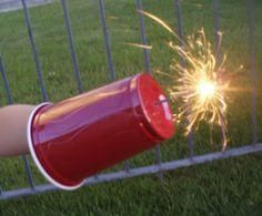 Fun 4th of July ideas, like protecting a child's hands from sparklers - such a great idea!