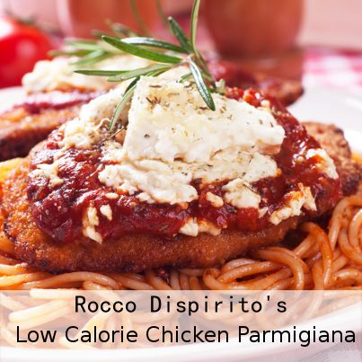 On Good Morning America July 3 2013, Rocco Dispirito showed us his Low Calorie Chicken Parmigiana Recipe with only 324 calories and 11 grams of fat.