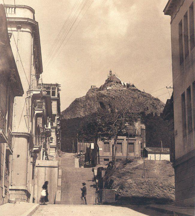 Old Athens, Kolonaki, Skoufa & Lycavitou 1930 Φωτογράφος: Πέτρος Πουλίδης [γεν. 1886 – †1967] Δράση: 1903-1964
