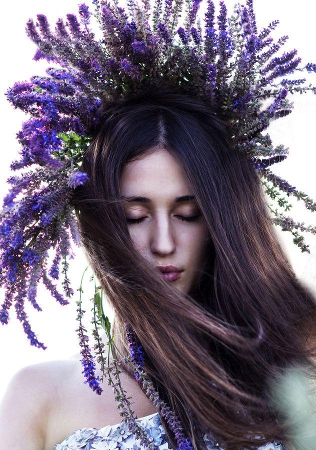 ❀ Flower Maiden Fantasy ❀  lavender crown