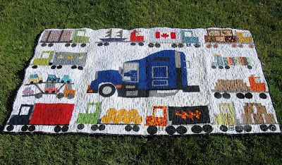 I can't get over how amazing this truck quilt is.
