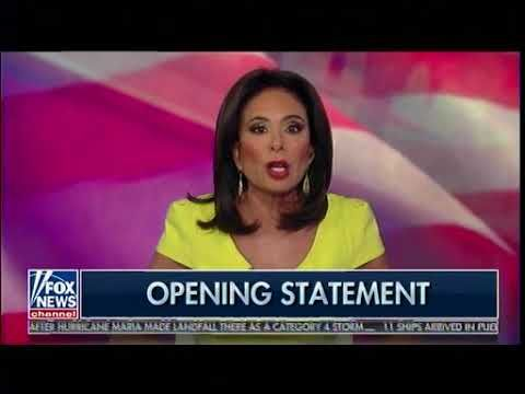 Judge Jeanine Pirro Opening Statement - Trump, The National Anthem & NFL...