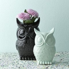 Collected Ceramic Owl Vase $49 for large black 27 x 17cm
