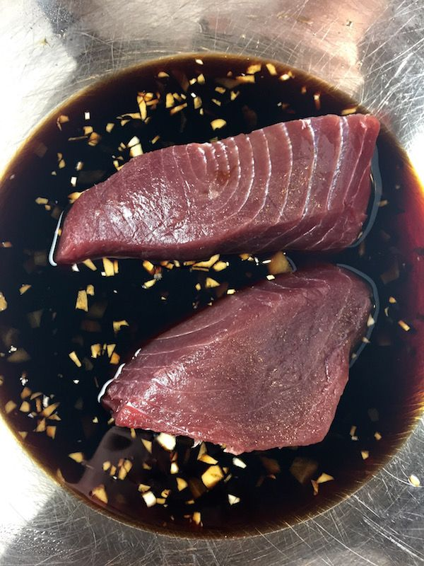 Tuna Teriyaki - A great recipe for fresh tuna, or chicken, pork, veggies and steak… marinated in a tangy teriyaki sauce and pan seared to perfection. So good and super simple! - theoptimalistkitchen.com