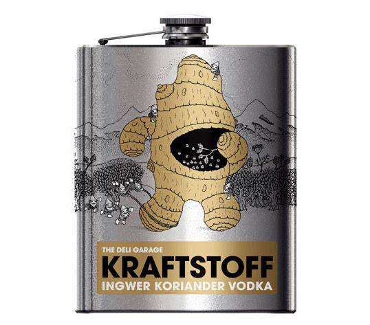 Kraftstoff Vodka  Designed by KOREFE | Illustration: Heiko Windisch