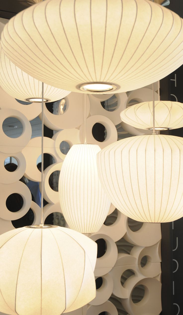 Iconic design trend: George Nelson bubble lamps #midcentury