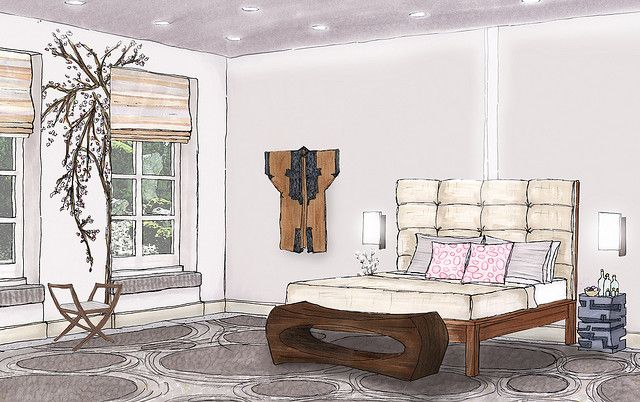 Interior Design Bedroom Sketches fantastic red bedroom inside interior design sketch uniquebedroom