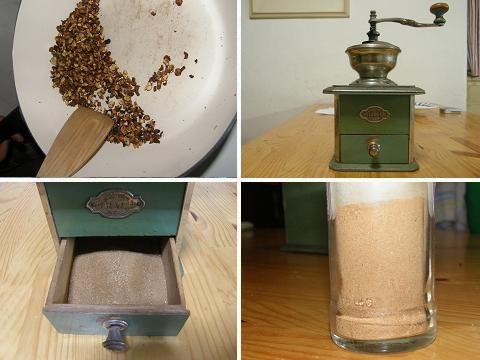 Pampeliška-mletí-kávy