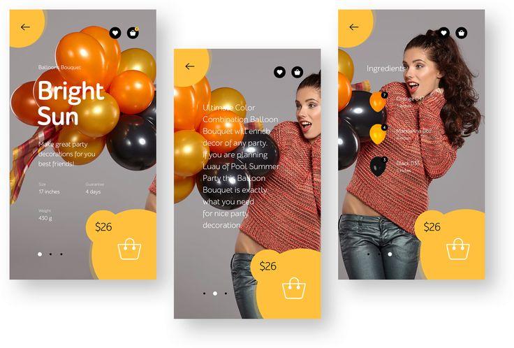 Андрей Жуков | Дизайн страницы товара для интернет-магазина букетов из воздушных шаров Flam.