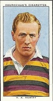 1935 by Churchman, #44 From the set, Rugby Internationals (V.A. Hewitt, Instonians)