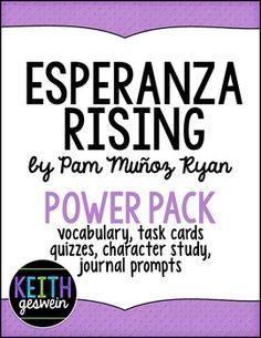 Esperanza Rising Pack: Prompts, Quizzes, Vocab, Task Cards