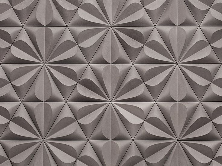 FIBER CEMENT 3D WALL TILE SEED BY KAZA CONCRETE | DESIGN GILLIAN BLEASE
