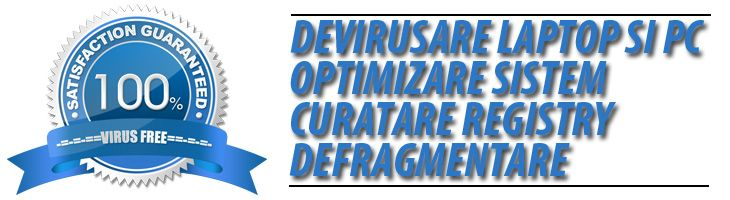 Asiguram devirusare laptop si pc, optimizare sistem, curatare registry si defragmentare, update antivirus, consultanta. http://www.calculator-service.ro/devirusare-optimizare-pc-laptop/