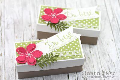 StampinUp Team gifts; Welcome gift demonstrator; Stampin Up Herzbordüre; StampinUp flea market; StampinUp Catalog 2016-2014; Stamp Bee; Gift wrap; Wedding Favors