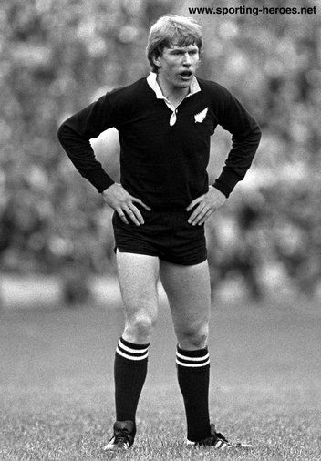 Stu Wilson - New Zealand - International rugby matches for The All Blacks.