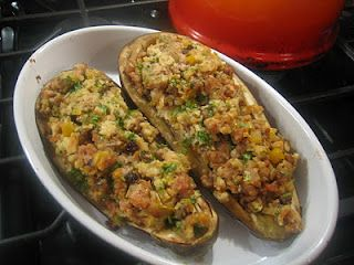 Lydia's Italy Stuffed Eggplant