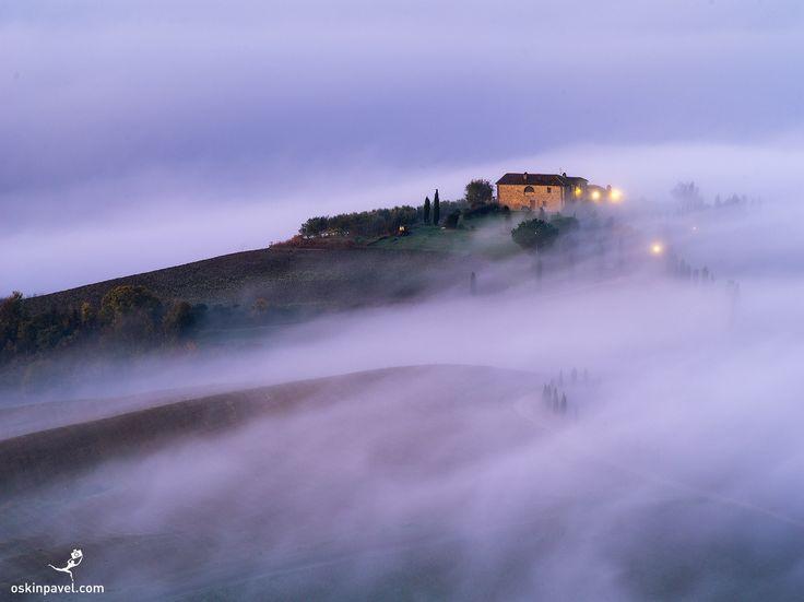 #186. Morning. Tuscany. Italy - http://www.oskinpavel.com/