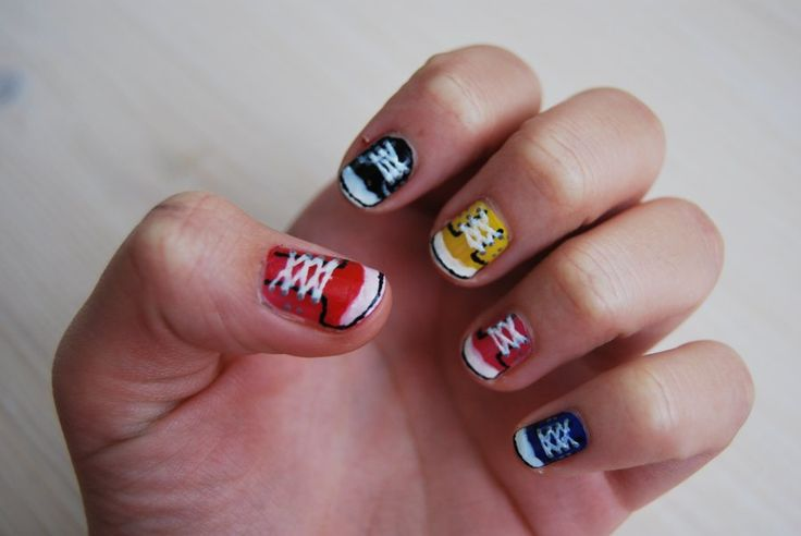 Converse sneakers nails
