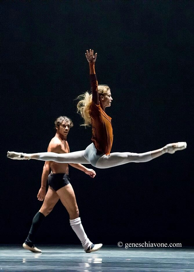 Alicia Amatriain and Jason Reilly in rehearsal - Photographer Gene Schiavone...