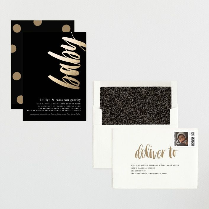 Baby Art Foil Pressed Baby Shower Invitations By Melissa Casey