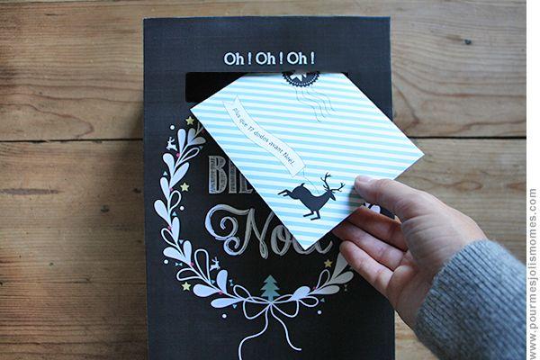 pour mes jolis mômes, mais pas que...: La boîte aux lettres de l'avent (calendrier DIY)