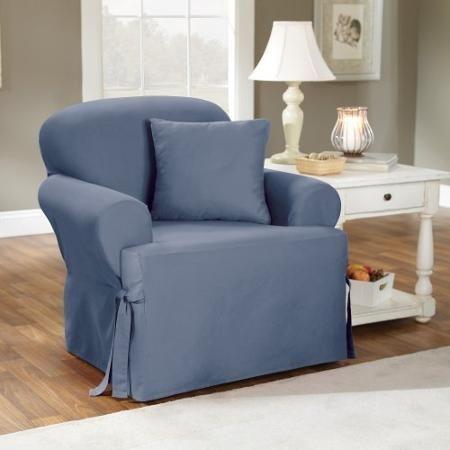 Recliner Sofa Sure Fit Cotton Duck T Cushion Chair Slipcover Walmart