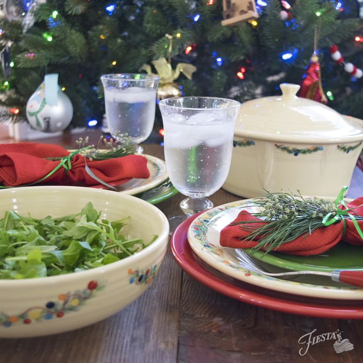 New for Christmas 2017: Fiesta® 'Christmas Tree' pattern is adding serving pieces to this popular collection, including Large Covered Casserole, Large Bistro Bowl, 2017 Ornament, and 5pc Entertaining Set | Fiesta Dinnerware, Always Festive