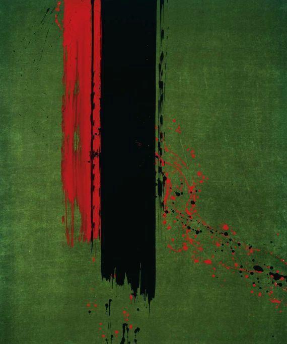 Fabienne Verdier; Destins croisés I, pigments et encre sur toile, 2006