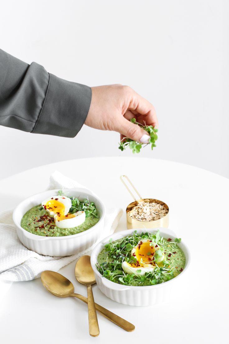 More Taste, Less Waste: Savory Green Oatmeal - Nutrition Happens