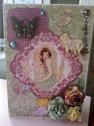 Handmade card using Santoro Willow
