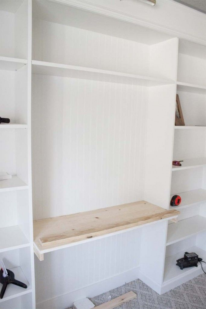 Stupendous Office Makeover Part 2 Diy Ikea Hack Bookcase Ikea Beutiful Home Inspiration Aditmahrainfo