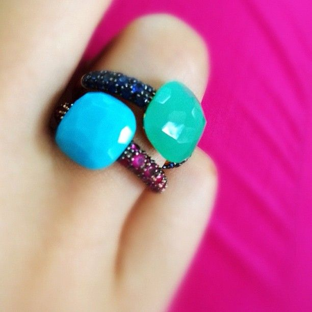 Pomellato rings, capri, perfect duo