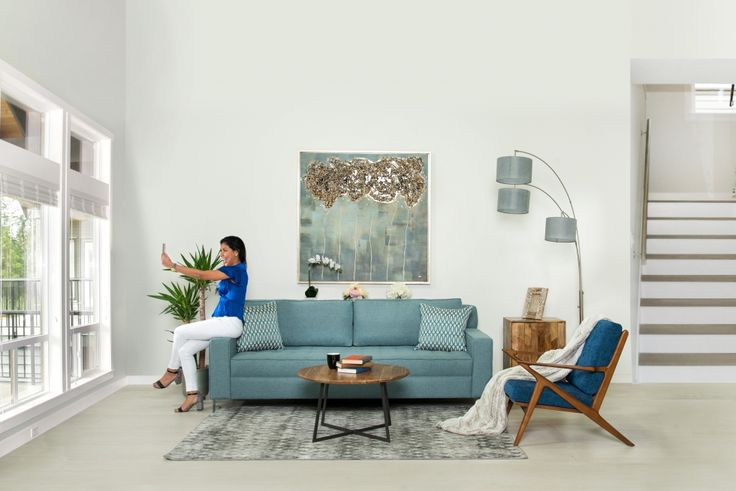The Grant Sofa in Aquamarine Blue is the perfect accent piece to any room.  Deep tufting and clean lines are signature to this beautiful piece.  Custom made in Canada by Kavuus.