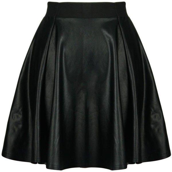 Black wetlook pvc elastic waist band short skater skirt ($11) ❤ liked on Polyvore featuring skirts, mini skirts, bottoms, saias, faldas, circle skirt, shiny skirt, wet look skirt, short skirts and short mini skirts