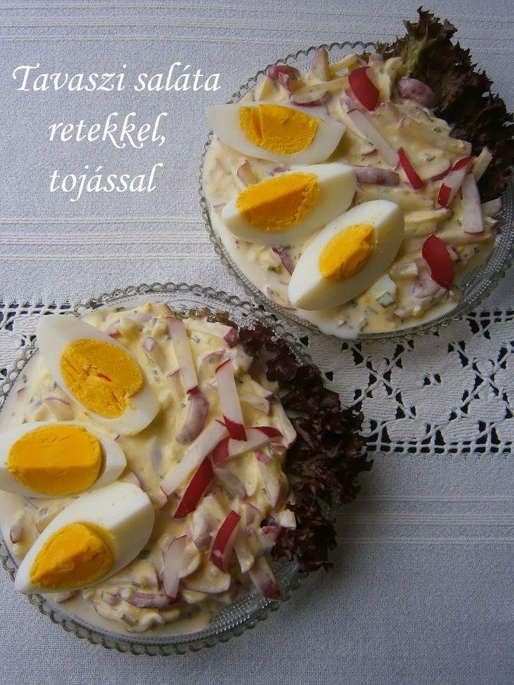 Hankka: Tavaszi saláta retekkel, tojással