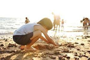 Darten in het zand